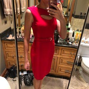 Cache contour red dress